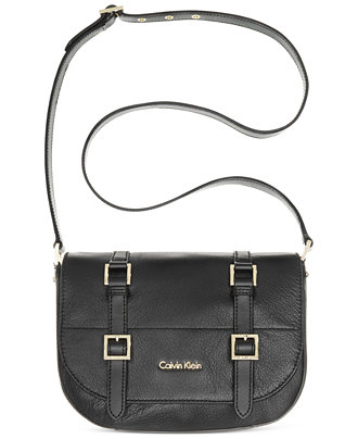 Calvin Klein Lana Vintage Leather Messenger