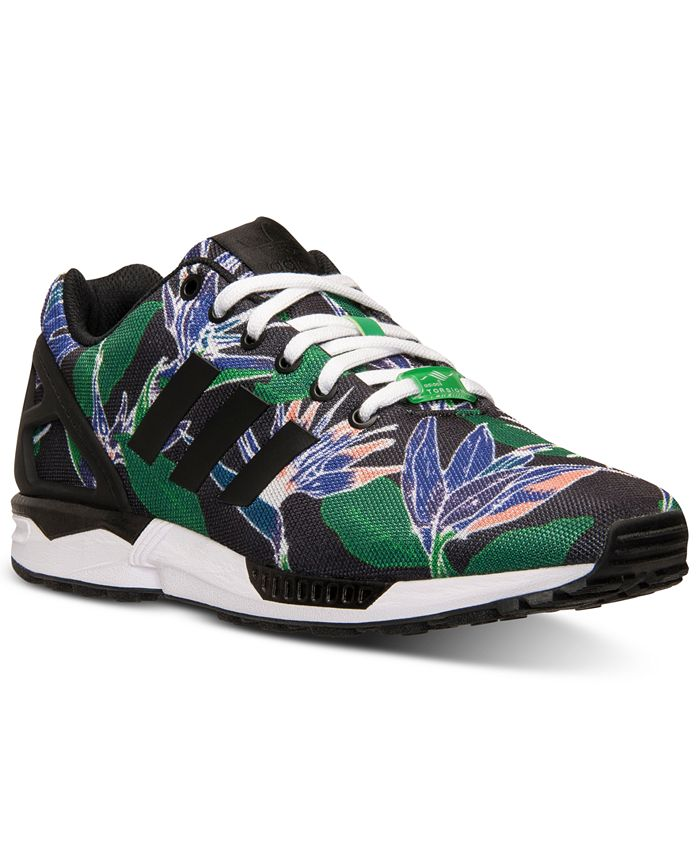 adidas Men's ZX Flux Floral Print Casual Sneakers from Finish Line ...