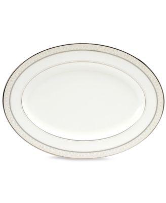 "Noritake ""Montvale Platinum"" Oval Platter, 14"""
