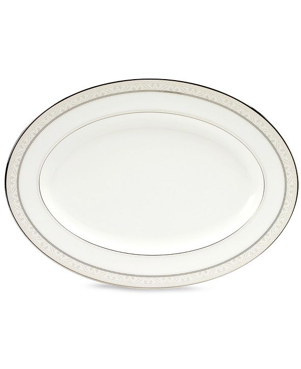 "Noritake ""Montvale Platinum"" Oval Platter, 16"""