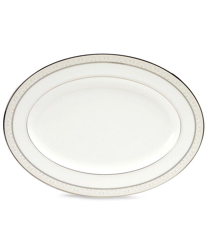 "Noritake - ""Montvale Platinum"" Oval Platter, 12"""