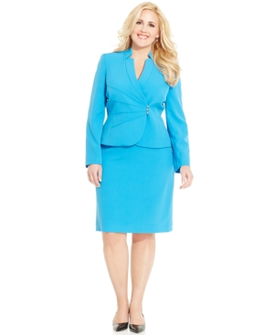 Tahari ASL Plus Size Skirt Suit