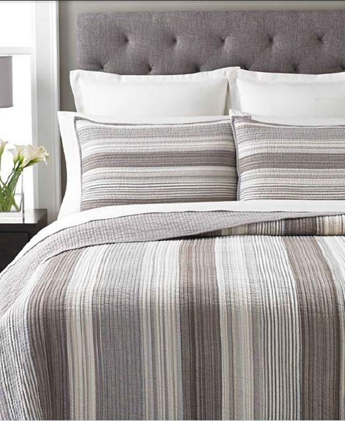 Martha Stewart Collection - Garrison Stripe Neutral Quilts