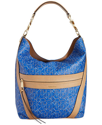 Calvin Klein Sadia Coated Canvas Hobo