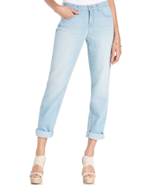 Style & Co. Petite Ex-Boyfriend Curvy-Fit Jeans  Blossom Wash  Only at Macy's