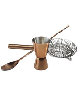 Luminarc Copper Barware Collection, 3-Pc. Bar Accessory Set