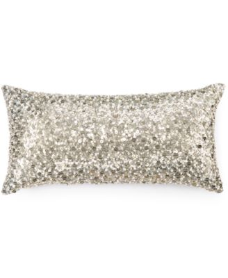"""Hotel Collection Finest Silver Leaf 10"""" x 20"""" Decorative Pillow"""