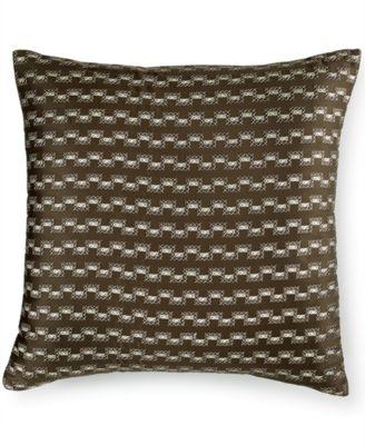 """Hotel Collection Savoy Espresso 20"""" Square Decorative Pillow"""
