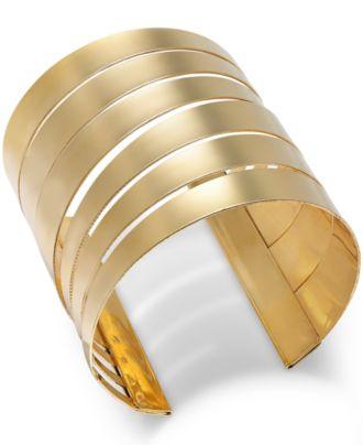Thalia Sodi Gold-Tone Multi-Row Cuff Bracelet