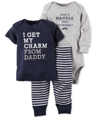 Carter's Baby Boys' 3-Piece Tee, Bodysuit & Pants Set
