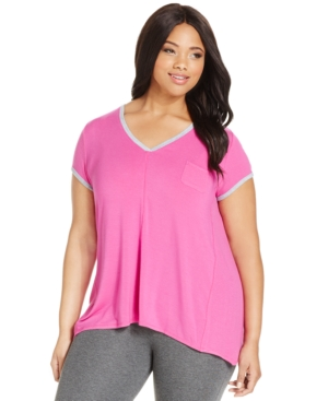 DKNY Plus Size Short Sleeve Essentials Top