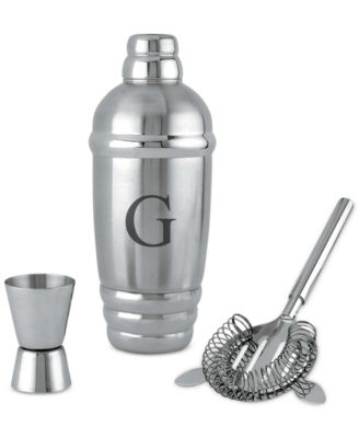 Lenox Tuscany Monogram Barware, Block Letter Cocktail Shaker