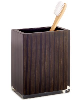 Hotel Collection, Wood Veneer Toothbrush Holder, Only at Macy's
