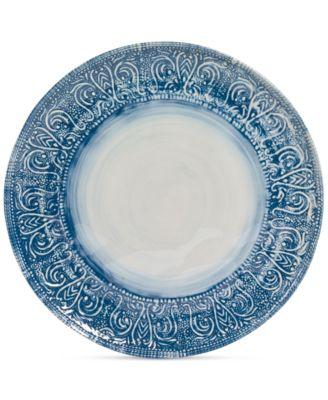 Maison Versailles Castleware Melamine Round Blue Dinner Plate