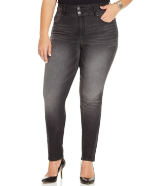 Style & co. Plus Size Tummy-Control Skinny Jeans, Cobra Wash