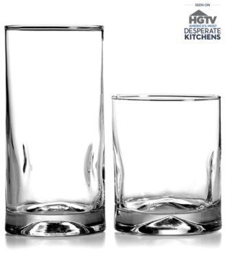 "The Cellar ""Silhouettes"" 16-Piece Glassware Set"