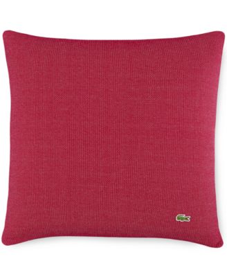 """Lacoste Auckland Red Caviar Knit 18"""" Square Decorative Pillow"""