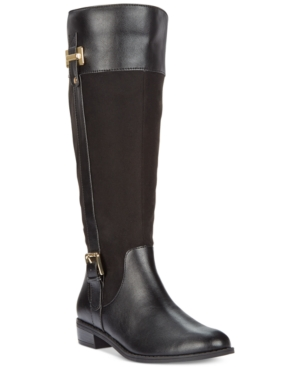 Karen Scott Deliee Wide Calf Riding Boots, Only at Macy's Women's Shoes