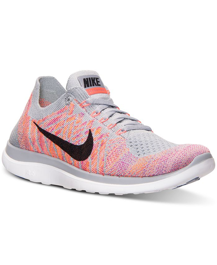 Nike - Women's Free Flyknit 4.0 Running Sneakers from Finish Line