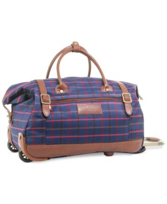 CLOSEOUT! 60% Off Tommy Hilfiger Perfect Plaid Rolling Duffel, Only at Macy's