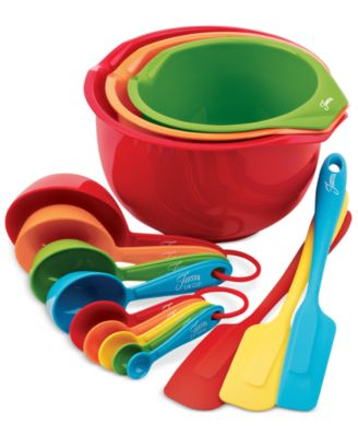 Fiesta Silicone & Plastic 15-Pc. Prep & Serve Set