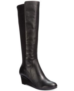 Giani Bernini Deanaa Tall Wide Calf Wedge Boots Women's Shoes