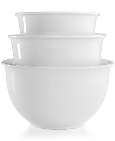 martha stewart collection 3 pc ceramic mixing bowl set only at macy 39 s. Black Bedroom Furniture Sets. Home Design Ideas