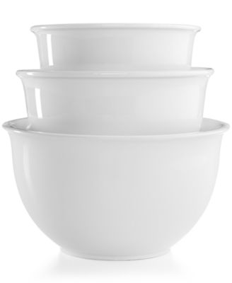 Martha Stewart Collection 3-Pc. Ceramic Mixing Bowl Set, Only at Macy's