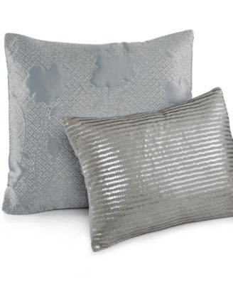"Calvin Klein Metal Discs 12"" x 16"" Decorative Pillow"