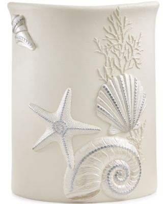Avanti Bath, Sequin Shells Wastebasket