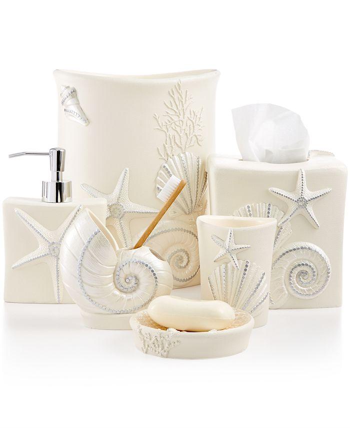 Avanti Bath Sequin Shells Accessories Collection Reviews Bathroom Bed Macy S