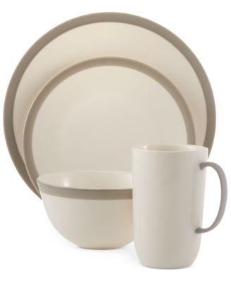 Vera Wang Wedgwood Dinnerware, Gradients Linen 4-Piece Place Setting