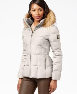 3fef5c1d7 UPC 788627847894 - Calvin Klein Faux-Fur-Trim Hooded Puffer Down ...