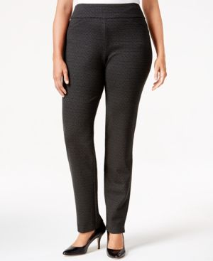Charter Club Plus Size Pull-On Straight-Leg Pants