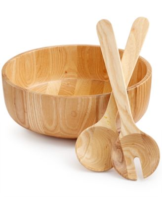 Hotel Collection Wood Salad Set, Only at Macy's