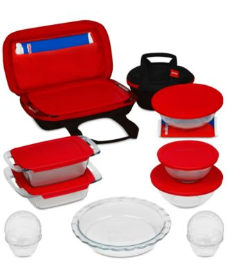 Pyrex 21-Pc. Portable Prep & Bake set