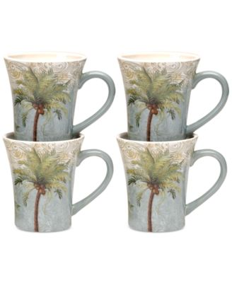 Certified International Key West Set of 4 Mugs