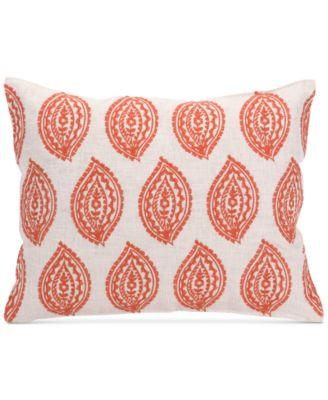 "Trina Turk Catalina Paisley 14"" x 18"" Embroidered Stamp Decorative Pillow"