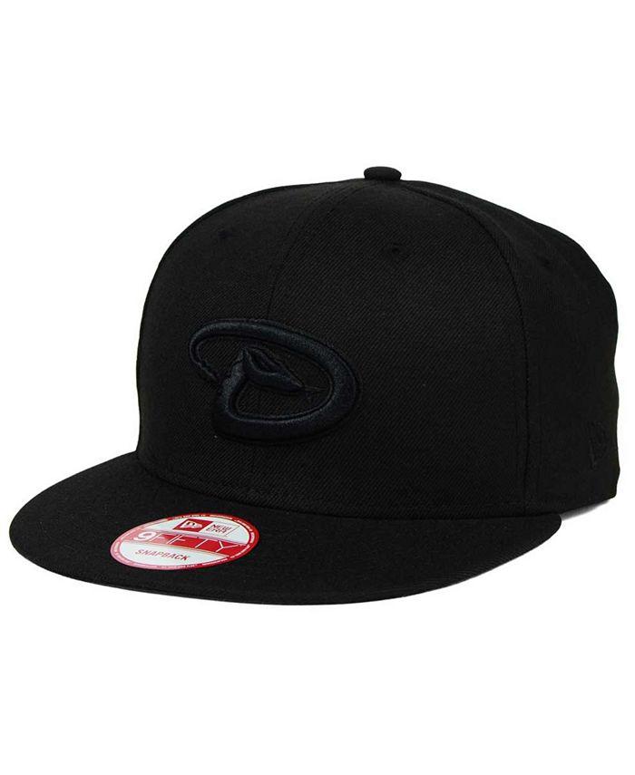 New Era - Arizona Diamondbacks Black on Black 9FIFTY Snapback Cap