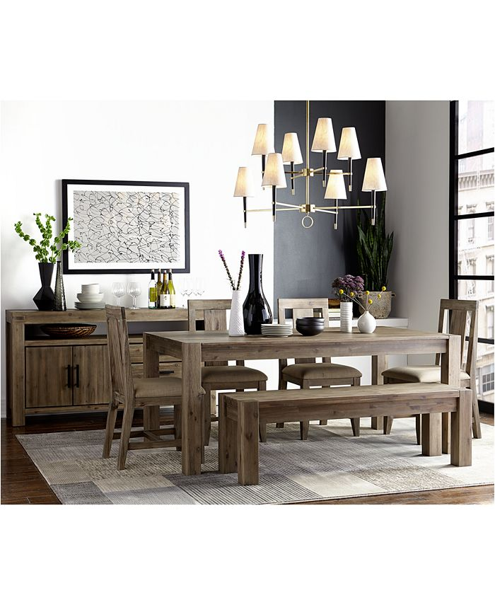 Furniture - Canyon 6 Piece Dining Set (Table, 4 Side Chairs and Bench)