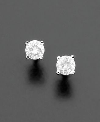 14k White Gold Diamond Stud Earrings (1/10 ct. t.w.)
