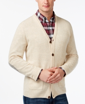 Tasso Elba Big and Tall V-Neck Cardigan Only at Macys $52.99 AT vintagedancer.com