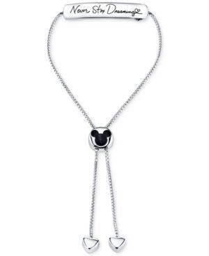 Disney Never Stop Dreaming Adjustable Bracelet in Sterling Silver