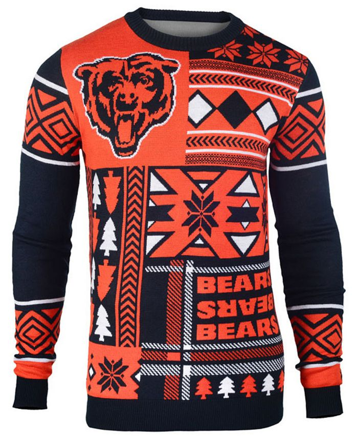 Forever Collectibles - Men's Chicago Bears Patches Christmas Sweater