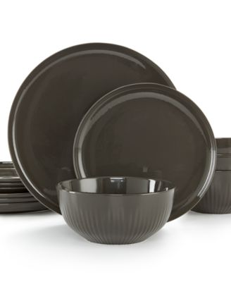 Hotel Collection Modern Slate Porcelain 12-Pc. Dinnerware Set, Service for 4, Only at Macy's