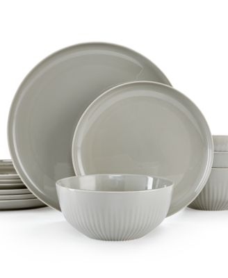 Hotel Collection Modern Stone Porcelain 12-Pc. Dinnerware Set, Service for 4, Only at Macy's