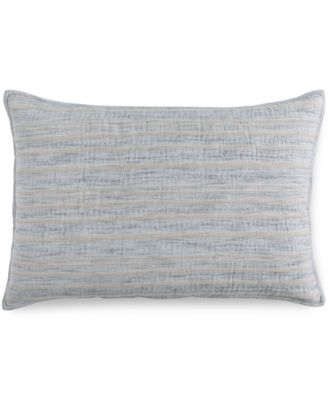 Hotel Collection Linen Stripe Quilted King Sham, Only at Macy's