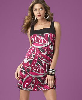 INC International Concepts® Printed Square-Neck Dress
