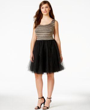 Trixxi Plus Size Sleeveless A-Line Dress