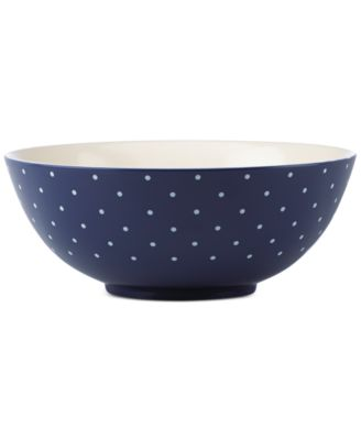 kate spade new york Larabee Dot Navy Collection Stoneware Serving Bowl